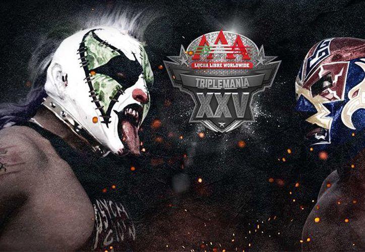 Triplemanía XXV se llevará a cabo el sábado 26 de agosto en la Arena Ciudad de México en punto de las 20:00 horas. (AAA)