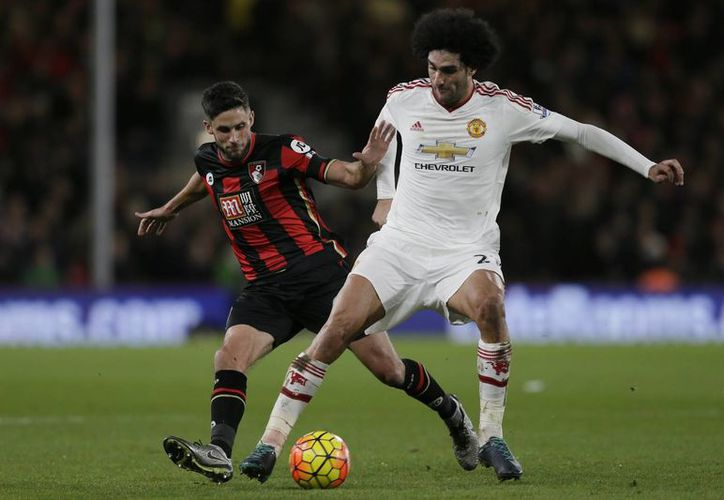 El Manchester United  cayó 2-1 ante Bournemouth este sábado en partido de la fecha 16 en la Liga Premier de Inglaterra. (AP)