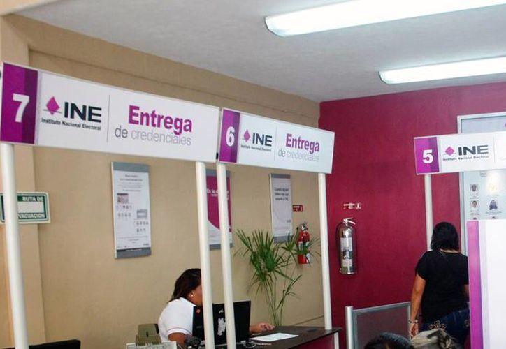 Módulo del Instituto Nacional Electoral (INE) donde se tramitan las credenciales para votar. Hay más de 60 mil ciudadanos que no han actualizado su mica. (Milenio Novedades)