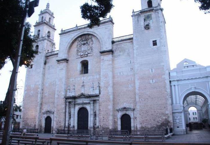 La Catedral de Mérida tiene un proyecto de mejoras, el cual comenzará a desarrollarse a fines del mes. (Archivo/ Milenio Novedades)