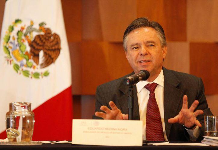 El embajador Eduardo Medina Mora dijo que los casos de espionaje no desanimarán la relación bilateral entre ambos países. (Notimex)