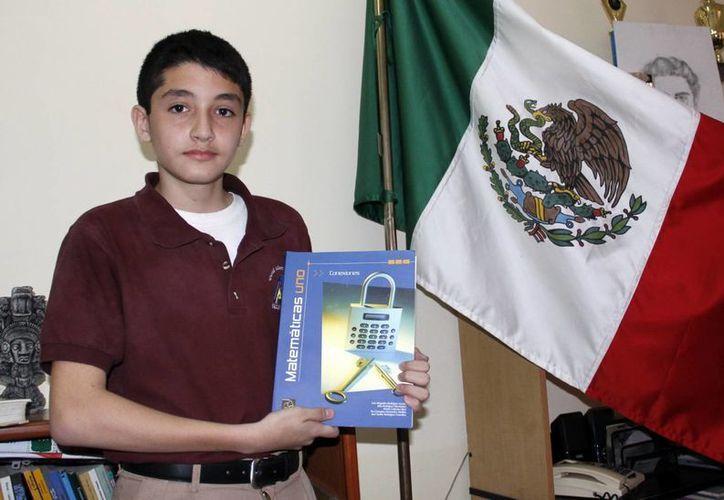 El pequeño Alberto Isaías se dijo listo para la competencia estatal. (Christian Ayala/SIPSE)