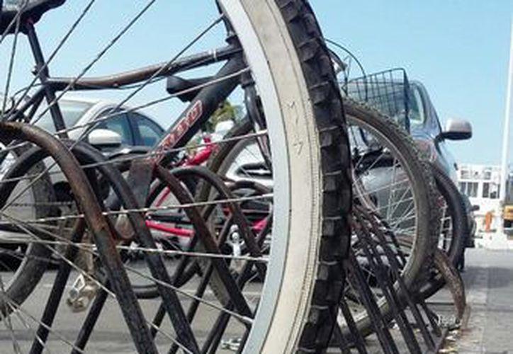 Según la EMBI, los ladrones de bicicletas no tardan más de media hora en vender el vehículo robado. (Daniel Pacheco/SIPSE)