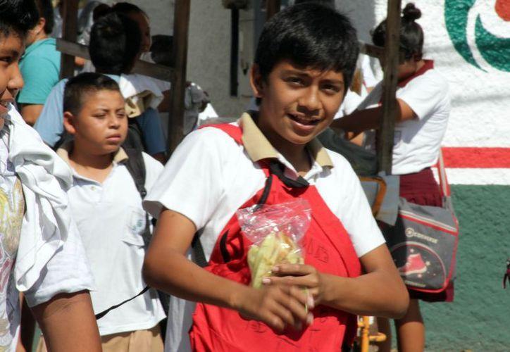 Es necesario que los padres de familia vigilen la alimentación de sus hijos y lo que consuman en las escuelas. (Francisco Sansores/SIPSE)