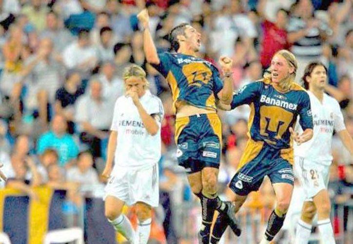 El América tratará de ser el primer club mexicano en ganarle al Real Madrid en un partido de un torneo oficial. Pumas (foto) y Monterrey lo lograron hace años, pero en encuentros amistosos. (Foto especial tomada de excelsior.com)