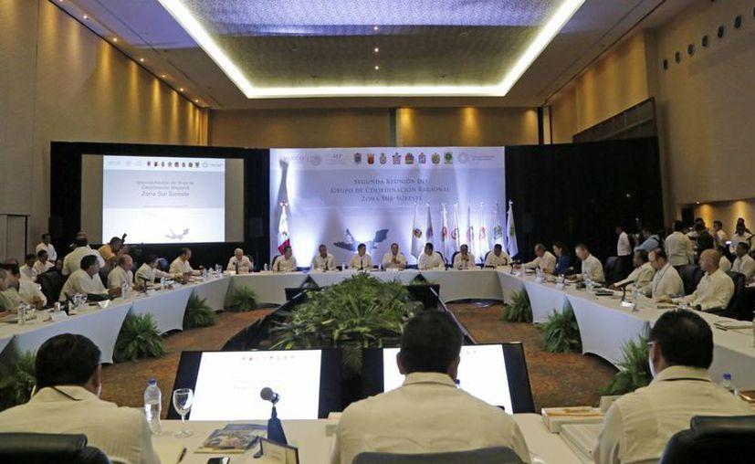 Realizan la Segunda Reunión del Grupo de Coordinación Regional Sur-Sureste en Cancún. (Jesús Tijerina/SIPSE)