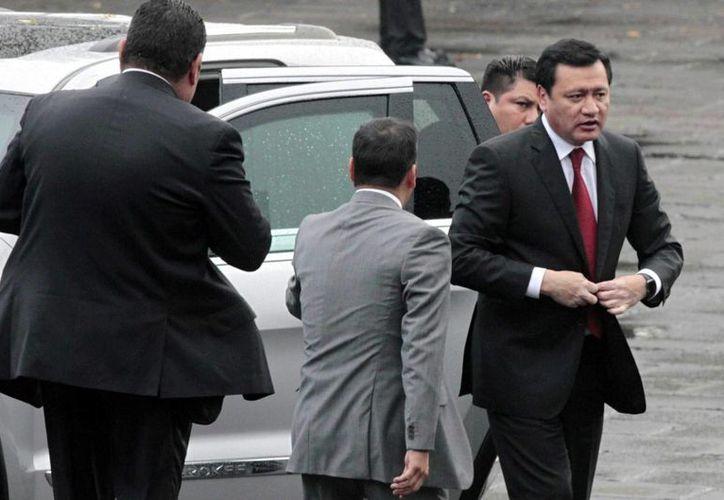 Osorio Chong puso en marcha el Plan Nacional de Capacitación para Policías en el Sistema de Justicia Penal, en el estado de San Luis Potosí. (Archivo/Notimex)