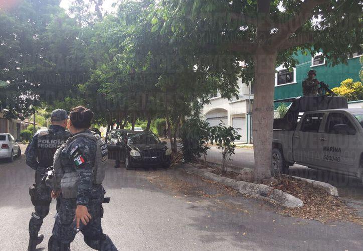 En el cateo participaron elementos del Ejército Mexicano, Policía Federal y Secretaría de Marina. (Foto: Redacción)