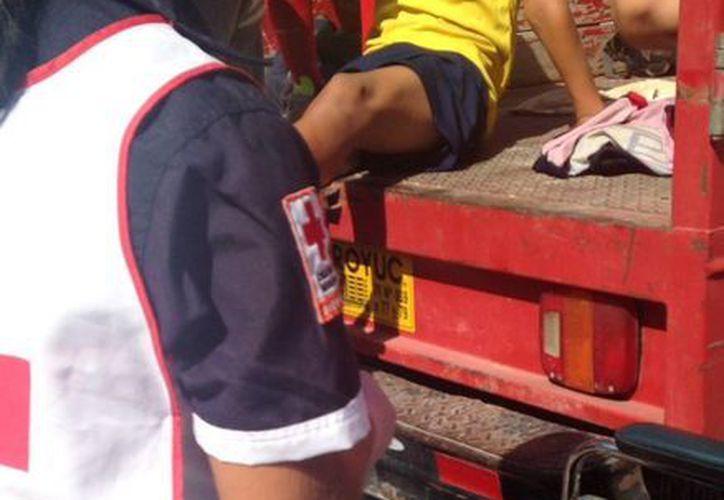 """Alex """"N"""" fue auxiliado por paramédicos de la Cruz Roja. (Redacción/SIPSE)"""