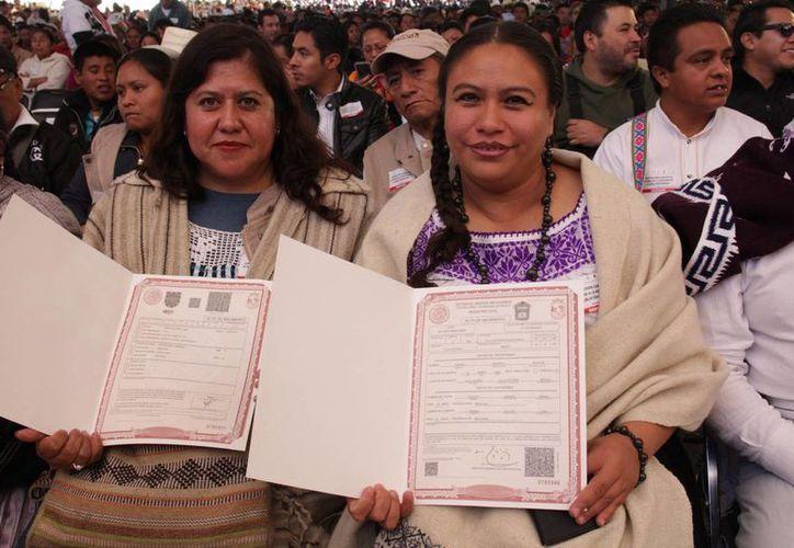El titular de la Secretaría de Gobernación, Miguel Ángel Osorio Chong, dijo que hay millones de personas que no cuentan con un acta de nacimiento, la gran mayoría son indígenas. (Archivo/Notimex)