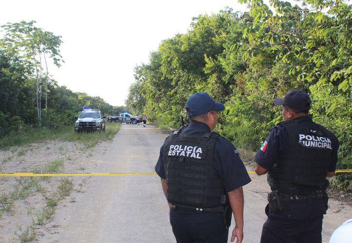 Elementos de la policía encontraron un cuerpo sin vida en una zona de terracería de Playa del Carmen. (Redacción/SIPSE).