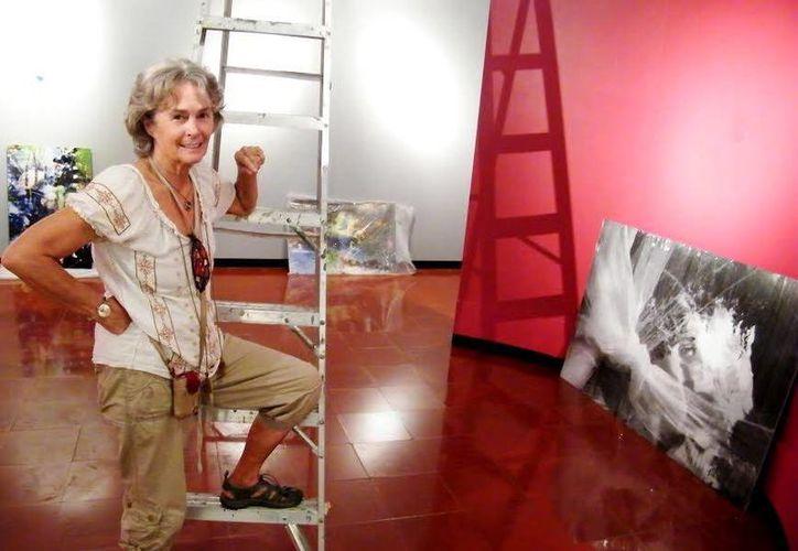 La artista visual invitó a las familias a asistir a la apertura de su exposición. (Milenio Novedades)