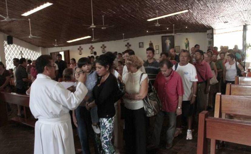 Las iglesias del municipio anuncian sus actividades para este inicio de Cuaresma. (Redacción/SIPSE)