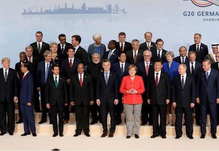 Merkel se reunió ayer jueves con el presidente estadounidense, Donald Trump. (AP)