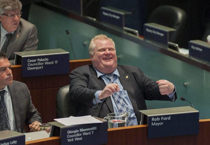 En imagen de archivo, el alcalde de Toronto, Rob Ford. (EFE/Archivo)