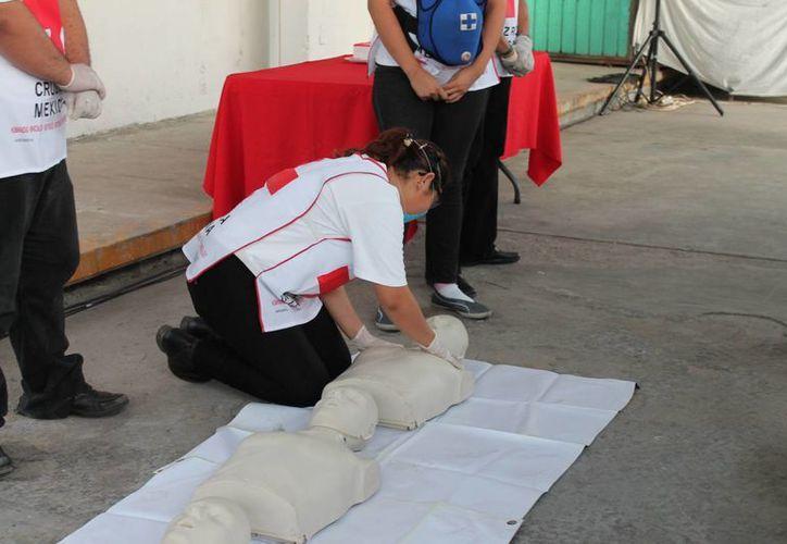 Brindan el curso de primeros auxilios. (Harold Alcocer/SIPSE)