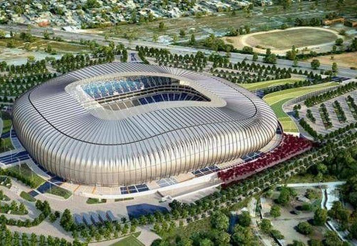Este es el nuevo estadio de Rayados de Monterrey, que fue inaugurado este sábado con la presencia del presidente Enrique Peña. (sdpnoticias.com)