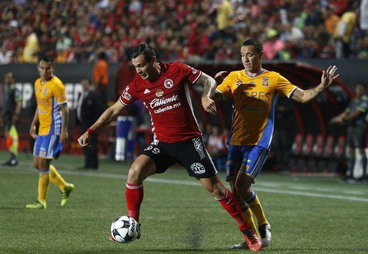 Xolos de Tijuana fue sorprendido por Cimarrones de Sonora en la primera jornada de la Copa MX Clausura 2017. La foto pertenece a un duelo de Tijuana en la Liga MX. (Notimex)