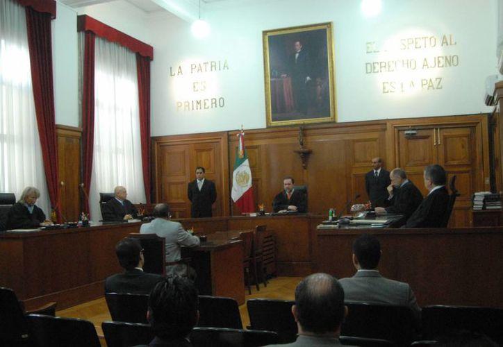 El llegó a la Suprema Corte de Justicia de la Nación. (Archivo/Notimex)