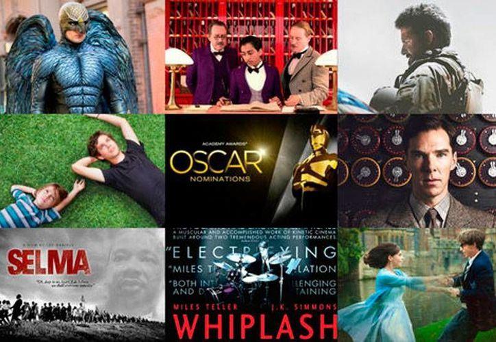 Fotocomposición de las películas 'candidatas' a los premios Oscar 2015. (Milenio Digital)