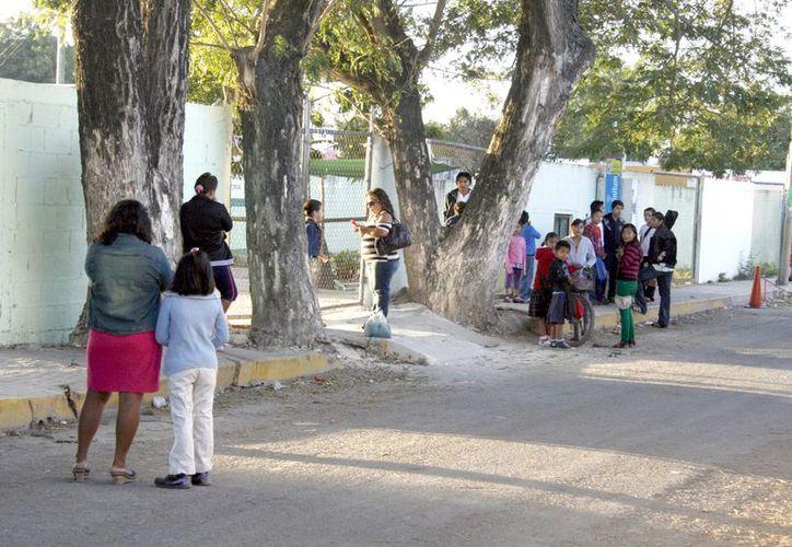"""Instalaciones de la primaria """"Miguel Ángel Salcedo Inzunza"""", en la comunidad de Santa Isabel, Kanasín. (Antonio Sánchez/SIPSE)"""