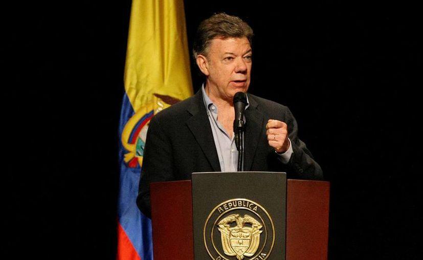 """""""Nada extraordinario hay aquí y no hay que armar una tormenta en un vaso de agua"""", agregó el mandatario Santos. (Archivo/EFE)"""