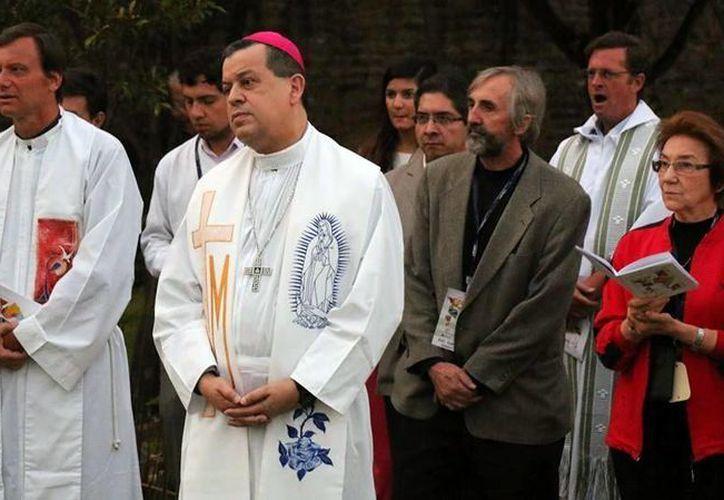 El Arobispo de Yucatán durante su participación en el Consejo Episcopal en Bogotá, Colombia. (Milenio Novedades)