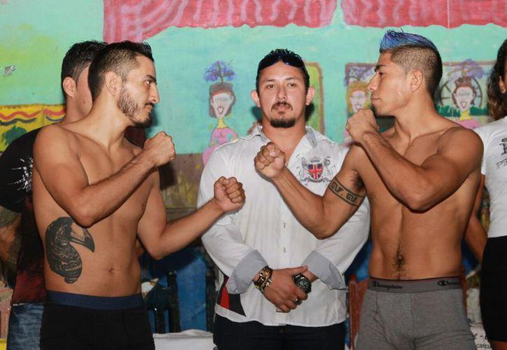 Los peleadores se declaran listos para la VI Edición del Campeonato Internacional Predatory de artes marciales mixtas. (Foto: Raúl Caballero/SIPSE)