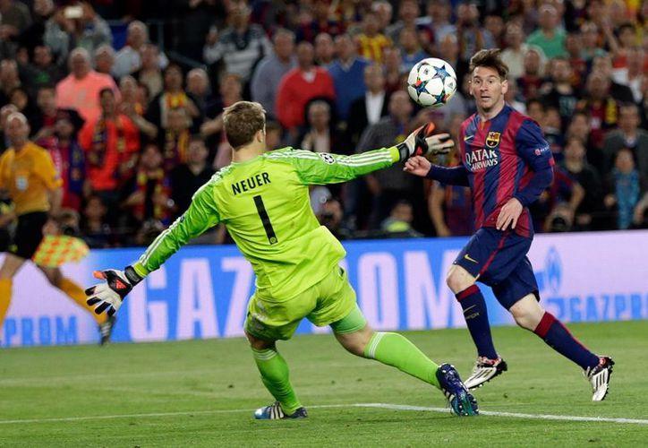 Messi esperó 77 minutos en el partido Barcelona vs Bayern pero después hizo 2 goles y dio el pase para el tercero en el partido de ida de semifinal de la Liga de Campeones de Europa. (Foto: AP)