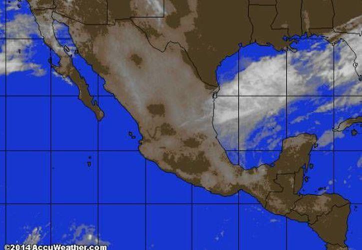 Remanentes del sistema de alta presión, ubicado al noreste del Golfo de México impulsan aire marítimo tropical hacia la Península de Yucatán. (www.accuweather.com)