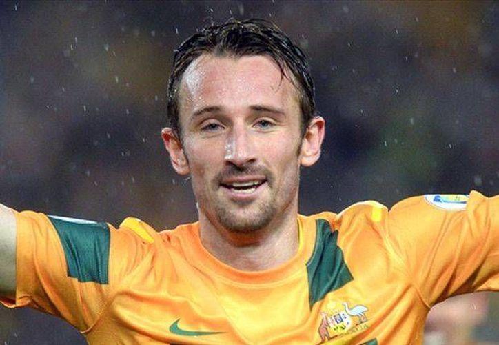 Joshua Kennedy fue el autor del gol que le dio a Australia su pase a Brasil 2014. (Goal.com)