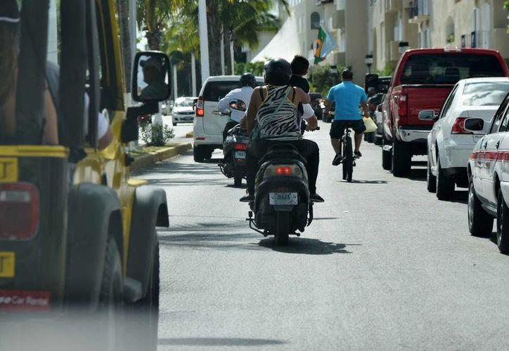 Los motociclistas serán el blanco de los operativos para concienciar. (Foto: Gustavo Villegas/ SIPSE)