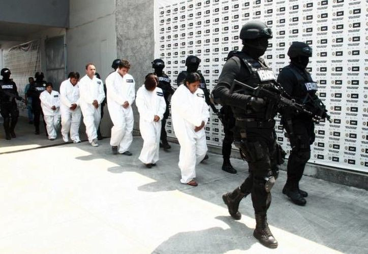 Banda de plagiarios de Guerrero arrestados en junio. (Notimex/Archivo)