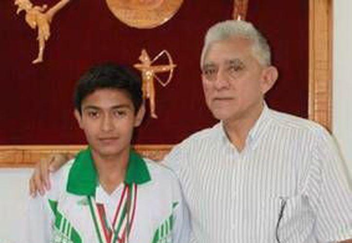 Luis representó a México en el Campeonato Panamericano de Karate en 2012. (Milenio Novedades)