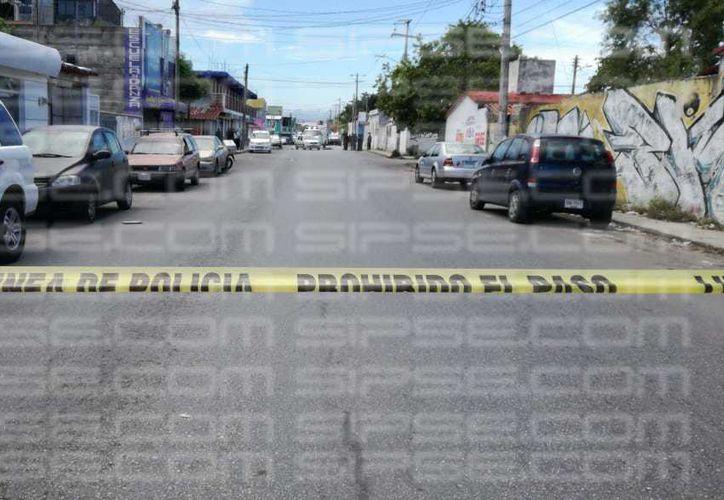 Autoridades municipales se trasladaron a la zona de los hechos. (Orville Peralta/ SIPSE)