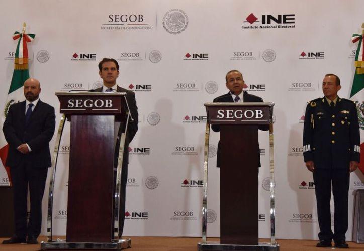 El secretario Navarrete Prida dijo que la seguridad de los candidatos es una responsabilidad del gobierno. (Cuartoscuro)