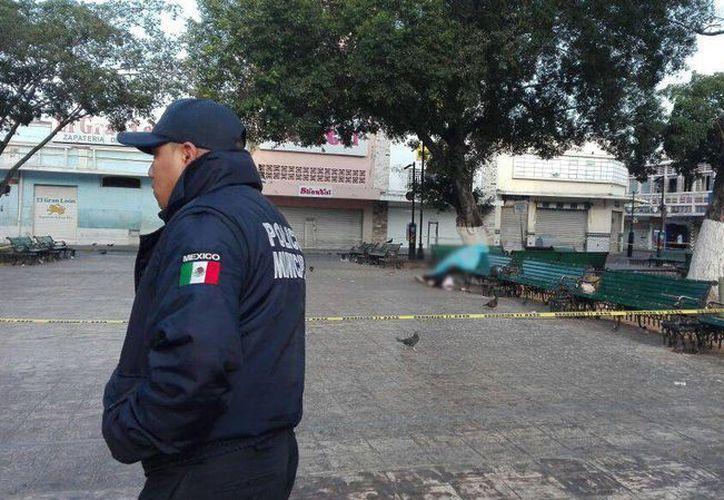 Tras el hallazgo, las autoridades acordonaron la zona para dar inicio a las investigaciones. (Arturo Valadez/SIPSE)