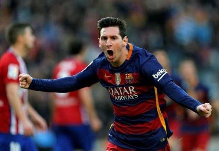 Las anotaciones del cuadro catalán fueron obra de Lionel Messi(foto) y Luis Suárez, cabe destacar que el Barca aún tiene un partido pendiente en la actual temporada.(AP)