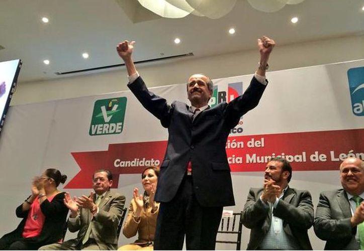 José Ángel Córdova es precandidato ciudadano de la alianza PRI, Verde Ecologista y Nueva Alianza a la alcaldía de León, Guanajuato. (twitter/@Un1onGto)