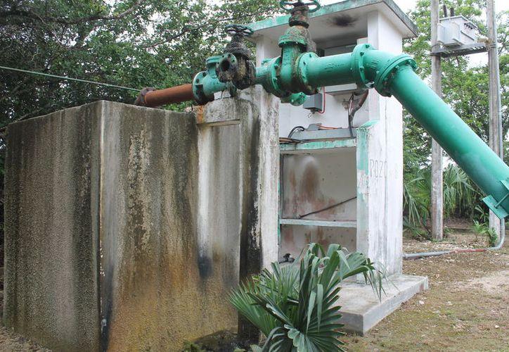 En González Ortega solo funcionan siete pozos que bombean, de forma deficiente, el suministro de agua a Chetumal. (Carlos Castillo/SIPSE)