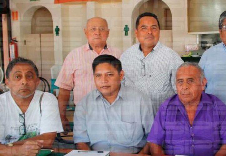 Rueda de prensa del Consejo Maya Peninsular. (Octavio Martínez/SIPSE)