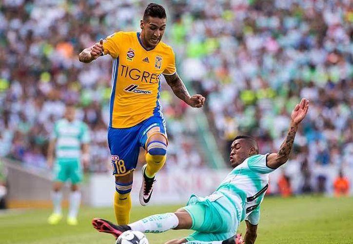 Tigres y Santos empataron a ceros esta tarde en el Territorio Santos Modelo. (Archivo/ Mexsport)