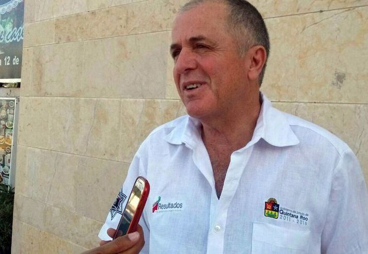 Juan Pedro Mercader Rodríguez dijo que se nota una disminución al 28% de los delitos en general. (Sergio Orozco/SIPSE)