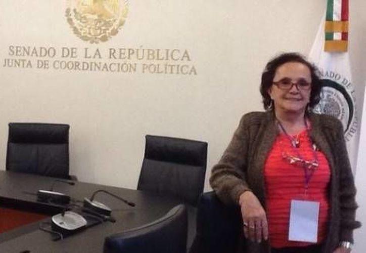 Alejandra Gil Cuervo, la 'madrota' de Sullivan, acudió al Senado para participar en las reformas a la Ley de Protección a Víctimas. (elsemanario.com)