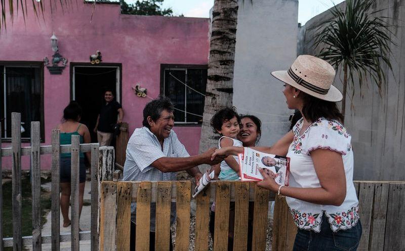 La candidata invitó a todos los vecinos de Cancún para que el 4 de mayo acudan a Playa del Carmen, a ver a AMLO.