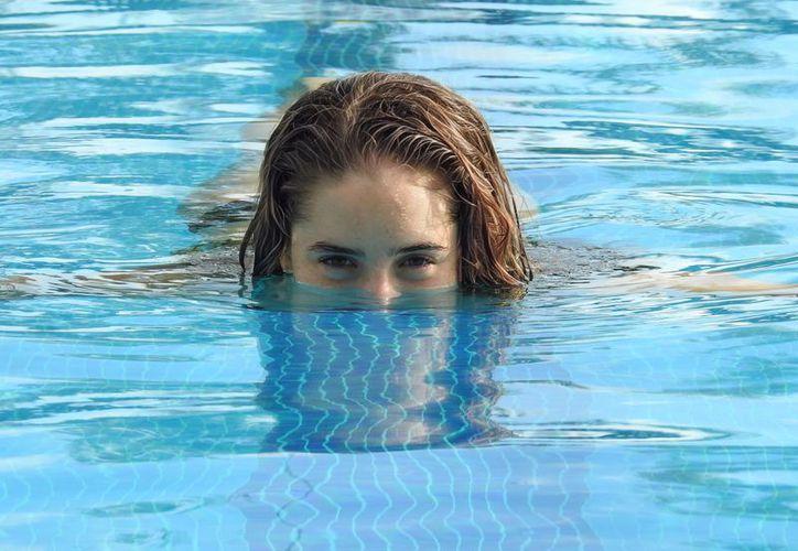 'CHICA DORADA'. Tayde Andrea Sansores se consolida como una de las grandes referentes de la natación en Quintana Roo.  (Foto: Ángel Villegas/SIPSE)
