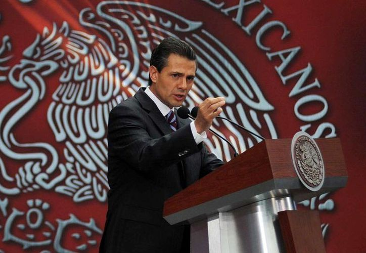 """Todas las reformas están encaminadas a elevar las tasas de crecimiento y a generar más empleo entre los mexicanos"""", dijo el Presidente. (Notimex)"""