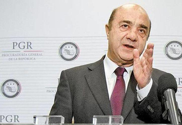 """""""Yo no desmiento ni afirmo nada"""", dijo el procurador general, Jesús Murillo Karam. (Javier Ríos/Milenio)"""