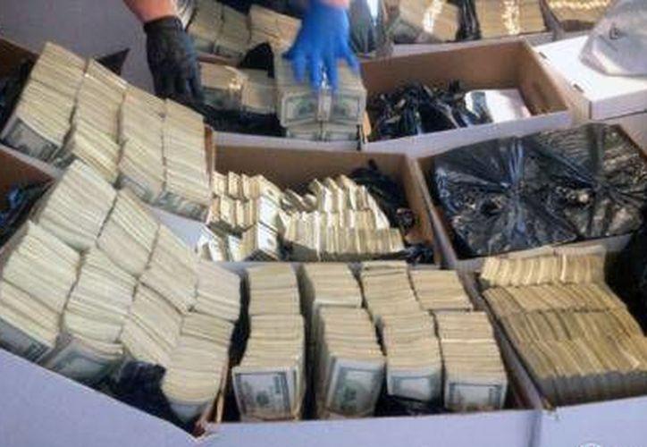 La policía de Los Ángeles logró el decomiso de más de 35 millones de dólares en efectivo, probablemente el golpe más duro asestado a organizaciones del crimen mexicanas. (AP)