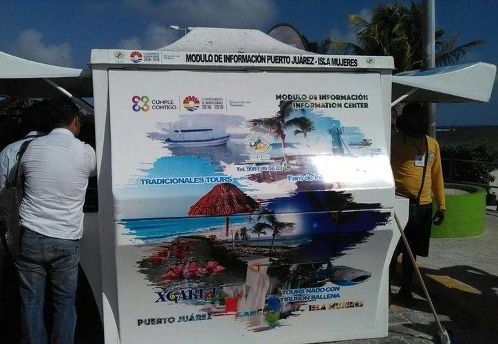 El módulo de información turística se ubica en Playa del Niño. (Alejandro García/SIPSE)